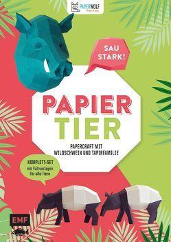 PAPIERtier – Saustark! Papercraft mit Wildschwein und Tapirfamilie von Paperwolf