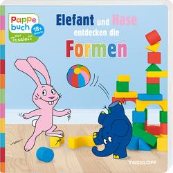 Pappebuch. Elefant und Hase entdecken die Formen von Baier,  Katja