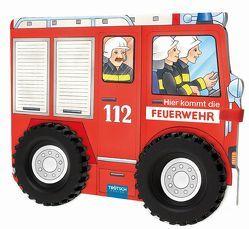 """Pappenbuch mit Rädern """"Hier kommt die Feuerwehr"""""""