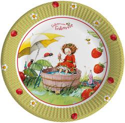 Pappteller Erdbeerinchen von Dahle,  Stefanie