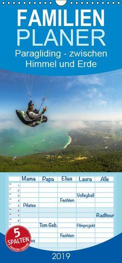 Paragliding – zwischen Himmel und Erde – Familienplaner hoch (Wandkalender 2019 , 21 cm x 45 cm, hoch) von Frötscher - moments in air,  Andy