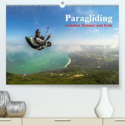 Paragliding – zwischen Himmel und Erde (Premium, hochwertiger DIN A2 Wandkalender 2021, Kunstdruck in Hochglanz) von Frötscher - moments in air,  Andy