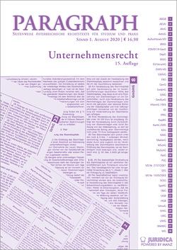 Paragraph – Unternehmensrecht von Artmann,  Eveline, Karollus,  Martin