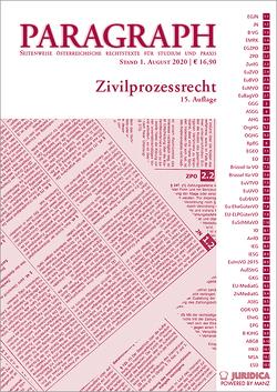 Paragraph – Zivilprozessrecht von Deixler-Hübner,  Astrid