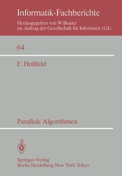 Parallele Algorithmen von Hoßfeld,  F.