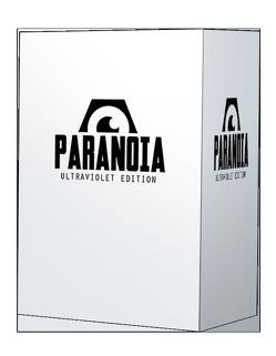 Paranoia Ultraviolett-Box von Costikyan,  Greg, Dean,  Paul, Goldberg,  Eric, Hanrahan,  Gareth, Howitt,  Grant, Wallis,  James