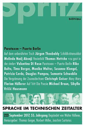 Parataxen – Puerto Berlin von Geiger,  Thomas, Miller,  Norbert, Sartorius,  Joachim