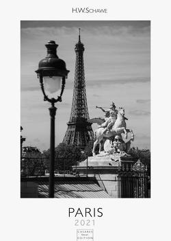 Paris 2021 schwarz-weiß L 42x59cm von Schawe,  Heinz-werner