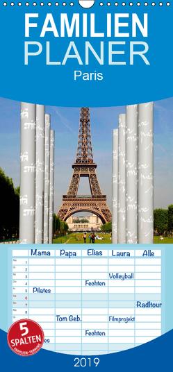 Paris – Familienplaner hoch (Wandkalender 2019 , 21 cm x 45 cm, hoch) von Gabriel,  Stephan