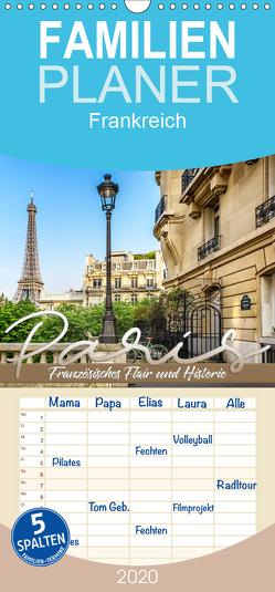 PARIS Französisches Flair und Historie – Familienplaner hoch (Wandkalender 2020 , 21 cm x 45 cm, hoch) von Viola,  Melanie