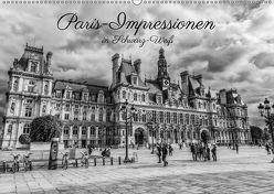 Paris-Impressionen in Schwarz-Weiß (Wandkalender 2018 DIN A2 quer) von Müller,  Christian