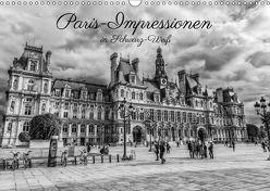 Paris-Impressionen in Schwarz-Weiß (Wandkalender 2018 DIN A3 quer) von Müller,  Christian