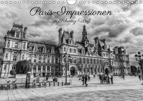 Paris-Impressionen in Schwarz-Weiß (Wandkalender 2018 DIN A4 quer) von Müller,  Christian