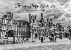 Paris-Impressionen in Schwarz-Weiß (Wandkalender 2020 DIN A2 quer) von Müller,  Christian