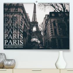 Paris – in schwarz und weiss (Premium, hochwertiger DIN A2 Wandkalender 2021, Kunstdruck in Hochglanz) von Lindau,  Christian