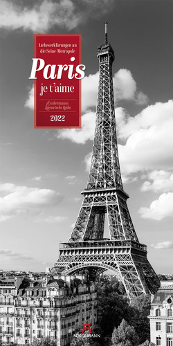 Paris, je t'aime – Literatur-Kalender 2022