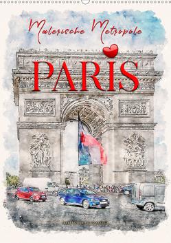 Paris – malerische Metropole (Wandkalender 2021 DIN A2 hoch) von Roder,  Peter