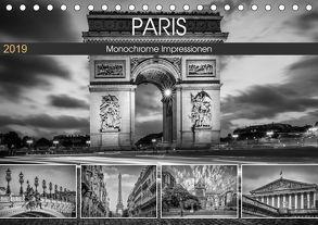 PARIS Monochrome Impressionen (Tischkalender 2019 DIN A5 quer) von Viola,  Melanie