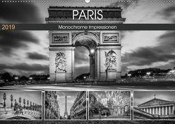 PARIS Monochrome Impressionen (Wandkalender 2019 DIN A2 quer) von Viola,  Melanie