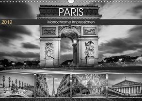 PARIS Monochrome Impressionen (Wandkalender 2019 DIN A3 quer) von Viola,  Melanie