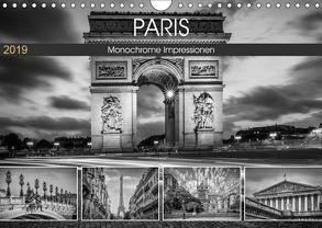 PARIS Monochrome Impressionen (Wandkalender 2019 DIN A4 quer) von Viola,  Melanie