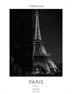 Paris schwarz-weiss 2022 L 59×42 cm von Schawe,  Heinz-werner