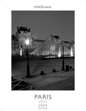 Paris schwarz-weiss 2022 S 29x21cm von Schawe,  Heinz-werner