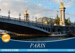 Paris Seine-Impressionen (Tischkalender 2019 DIN A5 quer) von Kruse,  Gisela