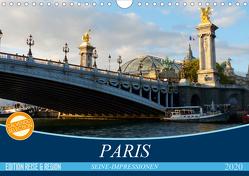 Paris Seine-Impressionen (Wandkalender 2020 DIN A4 quer) von Kruse,  Gisela