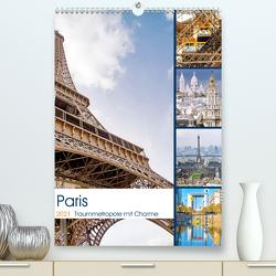 Paris Traummetropole mit Charme (Premium, hochwertiger DIN A2 Wandkalender 2021, Kunstdruck in Hochglanz) von Schwarze,  Nina