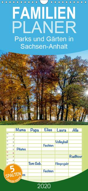 Parks und Gärten in Sachsen-Anhalt – Familienplaner hoch (Wandkalender 2020 , 21 cm x 45 cm, hoch) von Schrader,  Ulrich