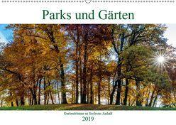 Parks und Gärten in Sachsen-Anhalt (Wandkalender 2019 DIN A2 quer) von Schrader,  Ulrich
