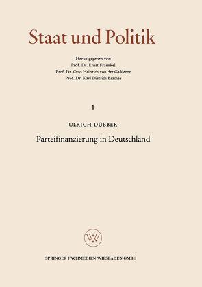 Parteifinanzierung in Deutschland von Dübber,  Ulrich