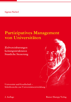 Partizipatives Management von Universitäten von Nickel,  Sigrun