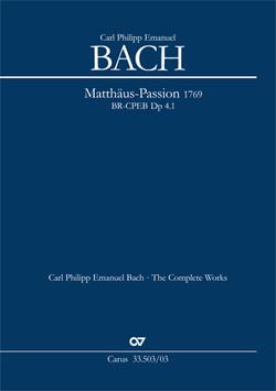 Passions-Musik nach dem Evangelisten Matthäus (Klavierauszug) von Bach,  Carl Philipp Emmanuel