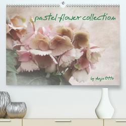 pastel flower collection (Premium, hochwertiger DIN A2 Wandkalender 2020, Kunstdruck in Hochglanz) von Otto,  Anja