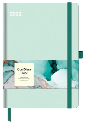 Pastel Mint 2022 – Diary – Buchkalender – Taschenkalender – 16×22