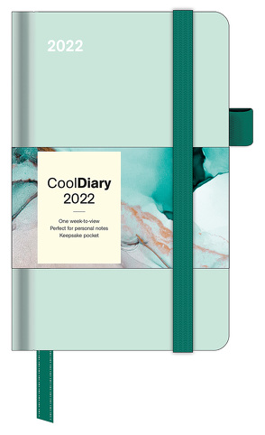 Pastel Mint 2022 – Diary – Buchkalender – Taschenkalender – 9×14