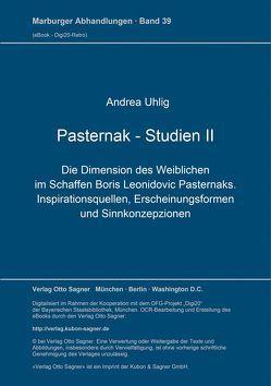 Pasternak-Studien II von Uhlig,  Andrea