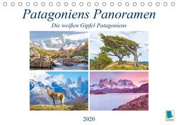 Patagoniens Panoramen: Die weißen Gipfel Patagoniens (Tischkalender 2020 DIN A5 quer) von CALVENDO