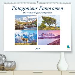 Patagoniens Panoramen: Die weißen Gipfel Patagoniens (Premium, hochwertiger DIN A2 Wandkalender 2020, Kunstdruck in Hochglanz) von CALVENDO