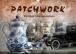 Patchwork – Vintage Impressionen (Wandkalender 2018 DIN A3 quer) von Kraetschmer,  Marion