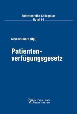 Patientenverfügungsgesetz von Kern Gerson, Memmer,  Michael