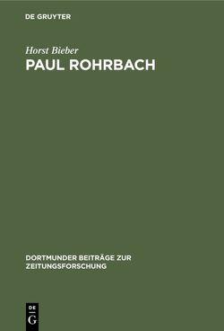 Paul Rohrbach von Bieber,  Horst