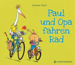 Paul und Opa fahren Rad von Teich,  Karsten