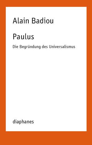 Paulus von Badiou,  Alain, Jatho,  Heinz
