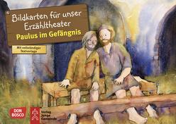 Paulus im Gefängnis. Kamishibai Bildkartenset von Lefin,  Petra, Nommensen,  Klaus-Uwe