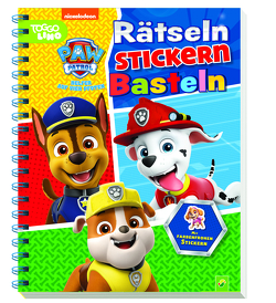 Paw Patrol Rätseln, Stickern, Basteln