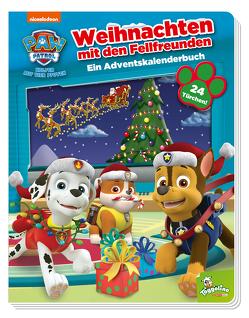 PAW Patrol: Weihnachten mit den Fellfreunden – Ein Adventskalenderbuch von Fruchter,  Jason, Weber,  Claudia
