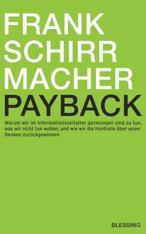 Payback von Schirrmacher,  Frank